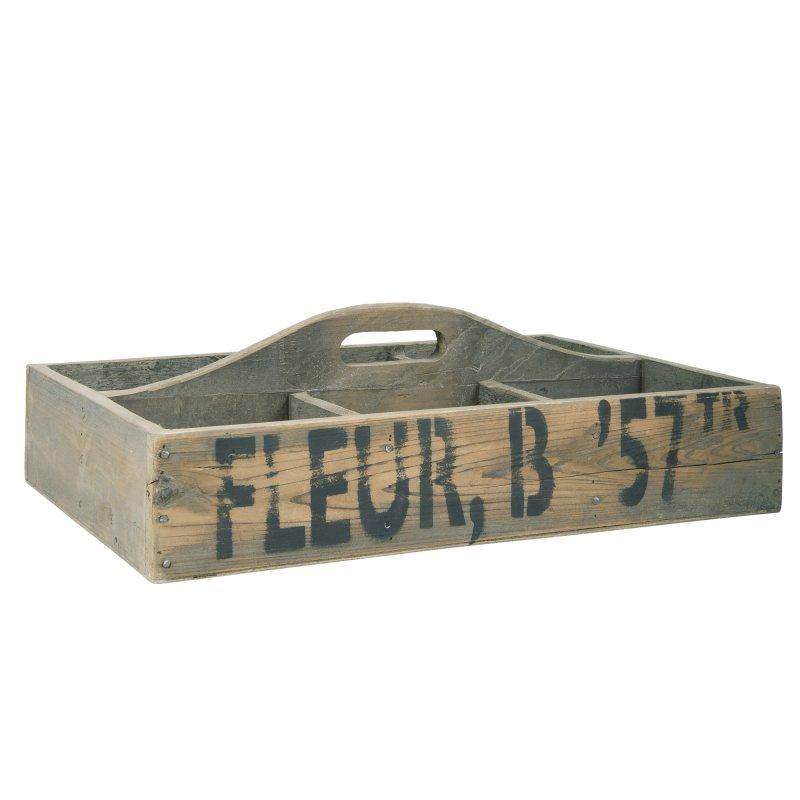 IB Laursen Kiste STORAGE 3 Fächer Kiste 60 cm Holz Aufbewahrungskiste Holzkiste