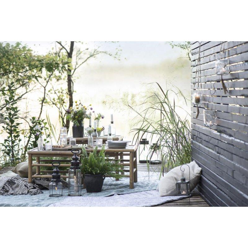 IB Laursen Windlicht Laterne HERZ schwarz Metall Garten Terrasse