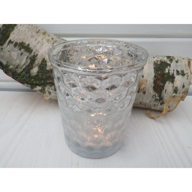 Windlicht cannes gro f r 1 teelicht oder 1 kleine kerze for Windlicht glas gross