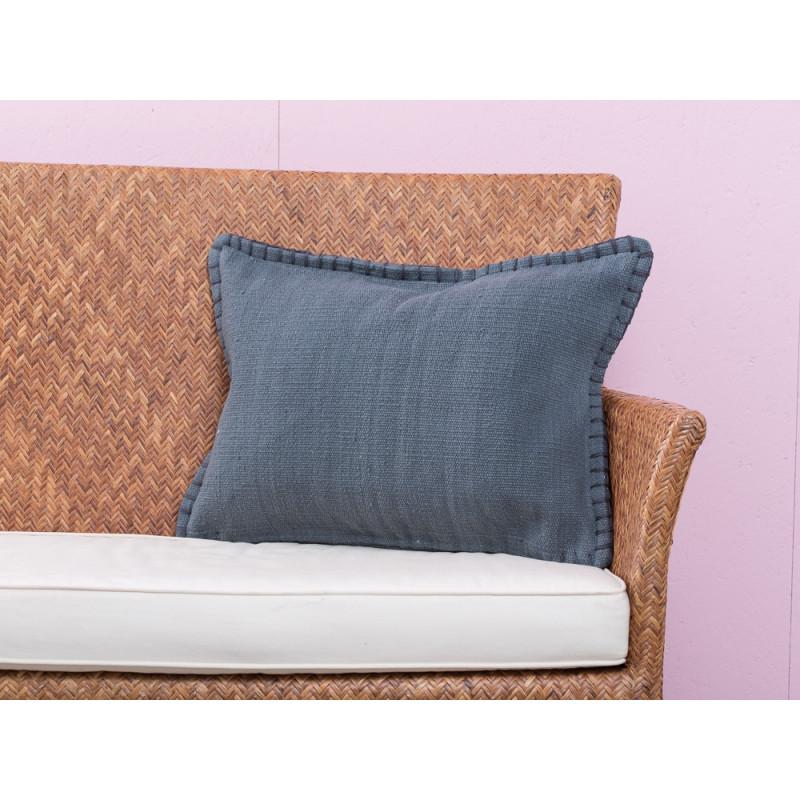 a simple mess kissenh lle mathilde anthrazit grau aus schwerer baumwolle mit schwarzen. Black Bedroom Furniture Sets. Home Design Ideas