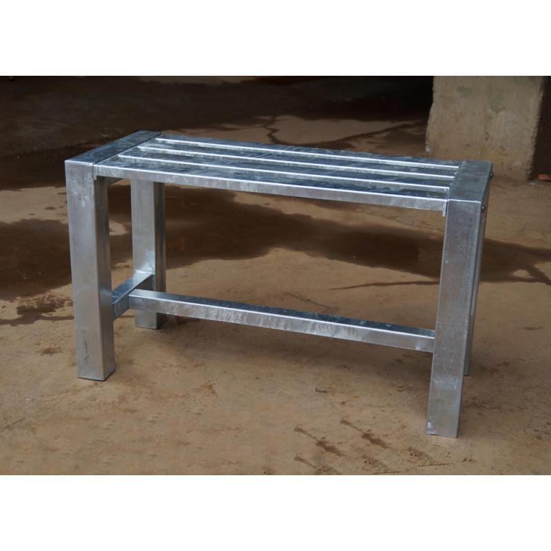 A2 Living Allwetter Gartenbank 1er Pro 6 Silber 79 Cm Rostfreie Gartenmöbel  Aus Metall Verzinkt