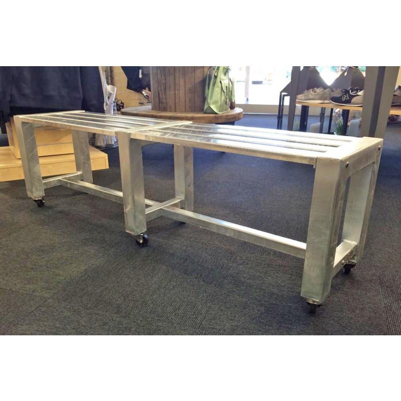 Attraktiv A2 Living Allwetter Gartenbank 2er Pro 6 Silber 152 Cm Rostfreie Gartenmöbel  Aus Metall Verzinkt