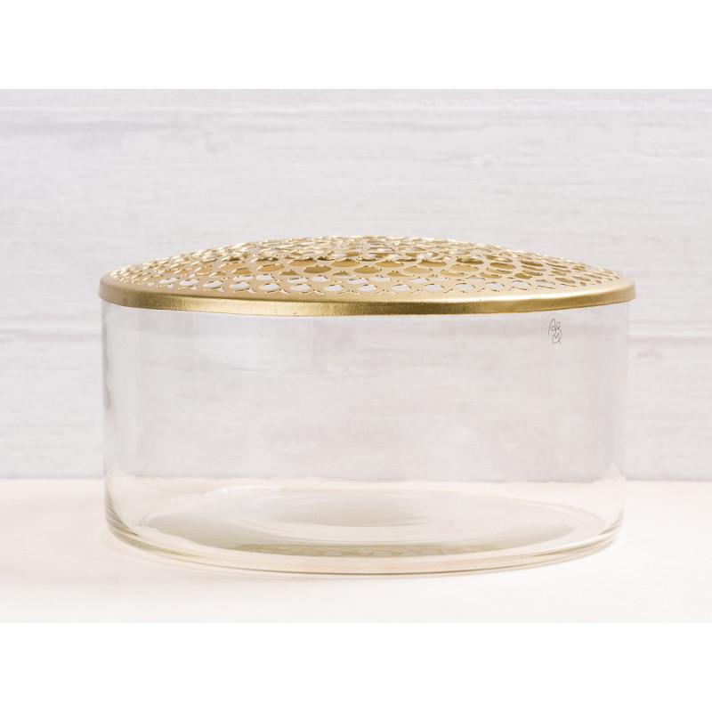 vase kathinka aus glas mit deckel a simple mess. Black Bedroom Furniture Sets. Home Design Ideas