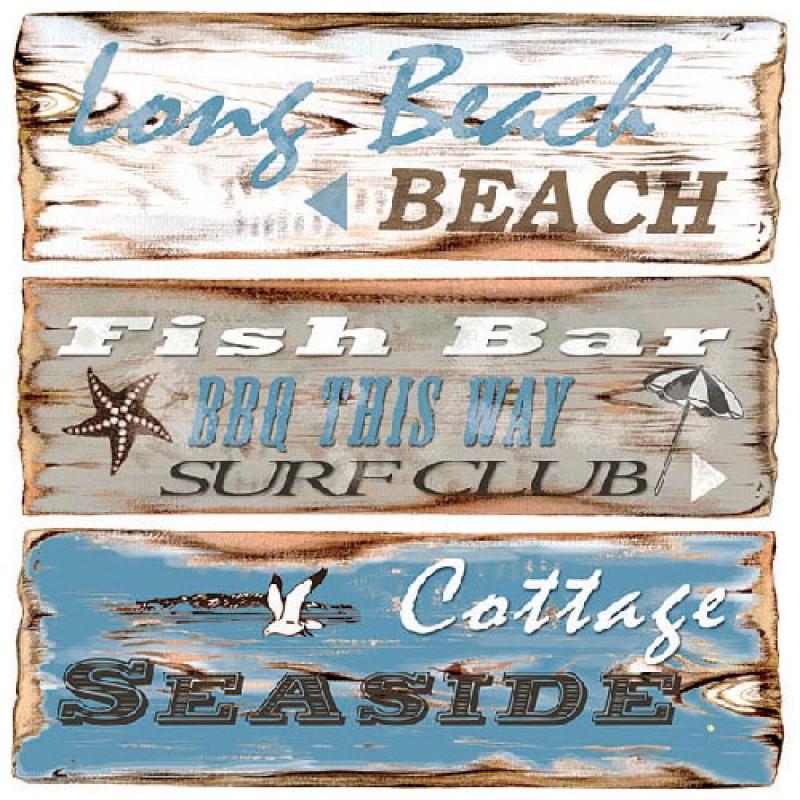 Ambiente Servietten Beach Signs Sommerliche Serviette Mit