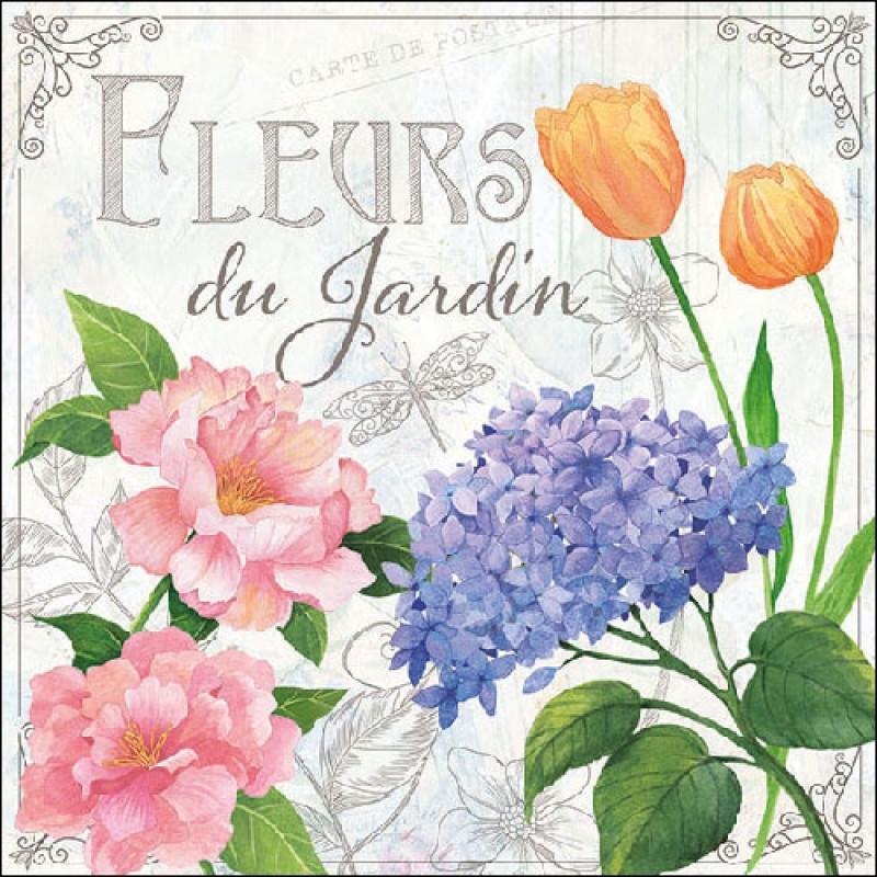 """Ambiente - Servietten """"Fleurs Du Jardin"""". Weiße Serviette Mit"""
