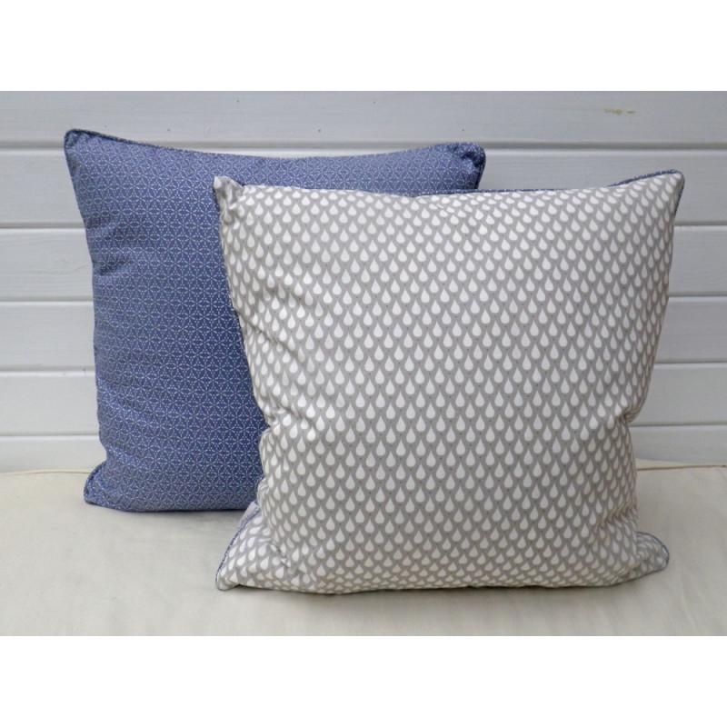 a u maison kissen taupe tropfen design tauben blau. Black Bedroom Furniture Sets. Home Design Ideas