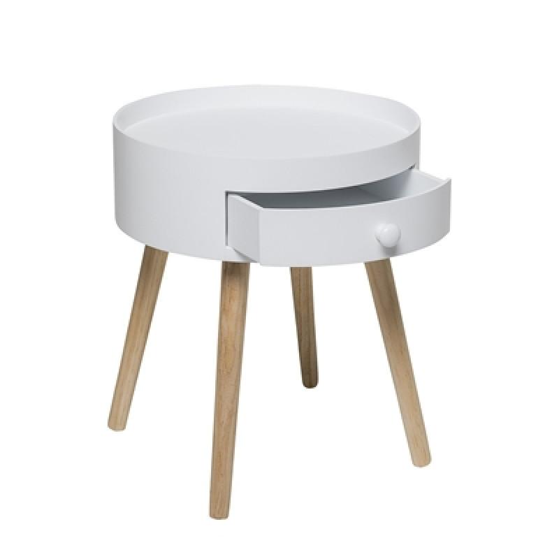 wei er beistelltisch mit schublade bloomingville hier. Black Bedroom Furniture Sets. Home Design Ideas