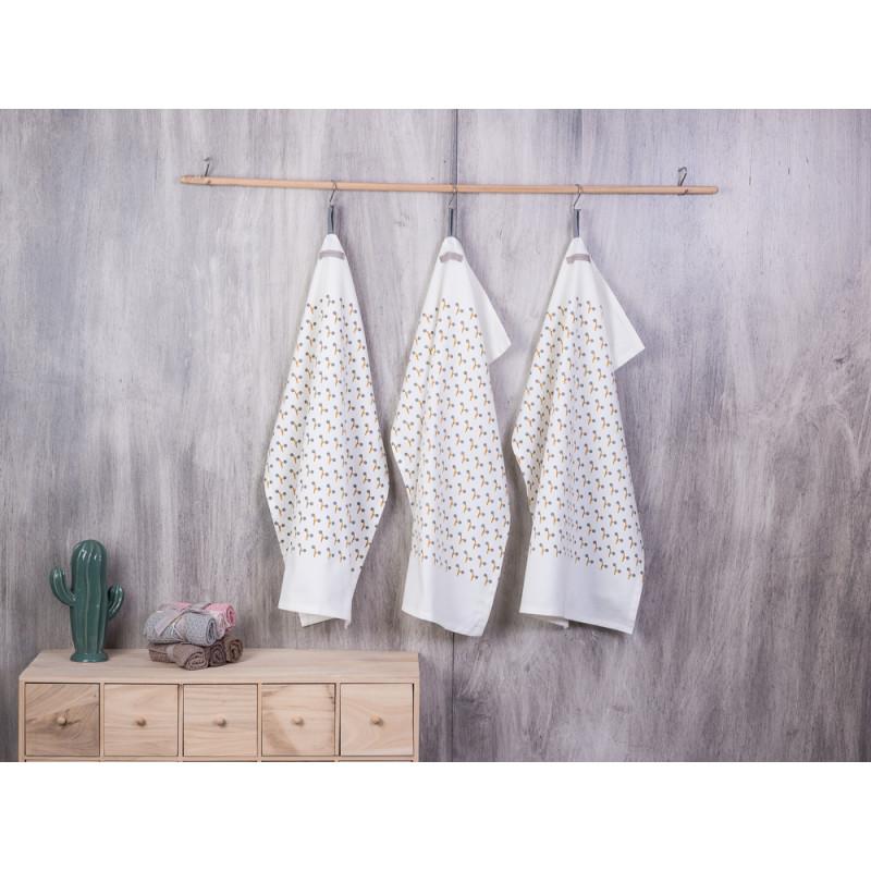 bloomingville geschirrtuch blumenmotiv wei es geschirrhandtuch mit blumen aus baumwolle. Black Bedroom Furniture Sets. Home Design Ideas