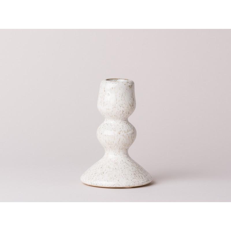 Bloomingville Kerzenhalter Weiß Keramik Für Eine Stabkerze 11cm Groß ...