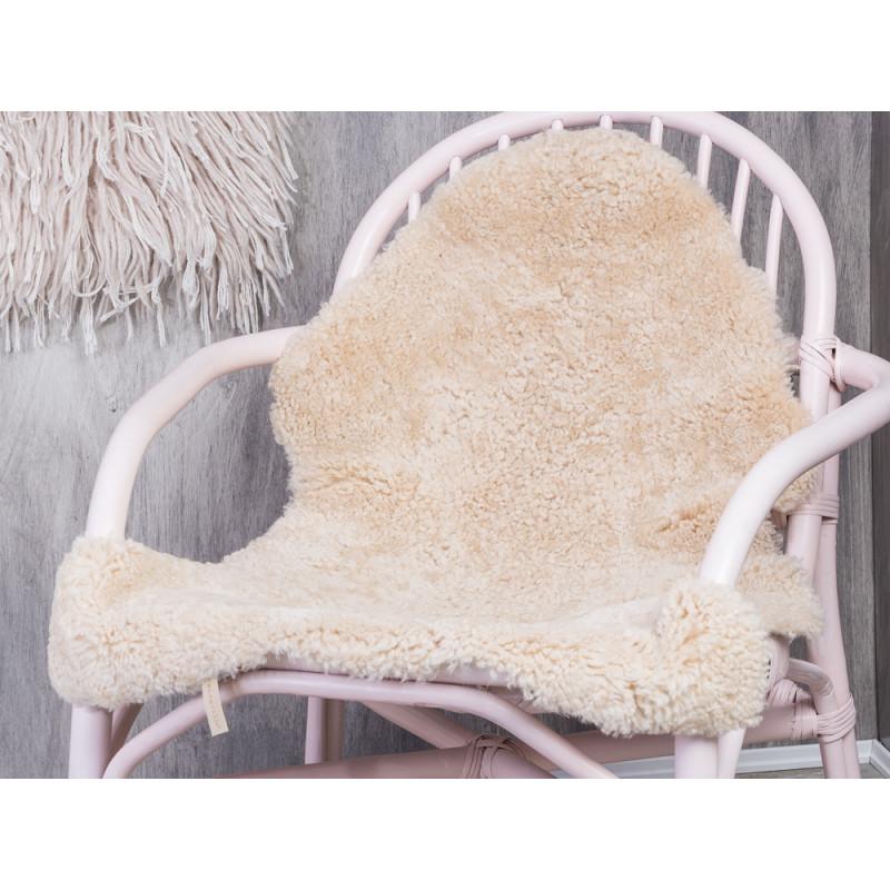 Stuhl Fell bloomingville sheepskin nature hochwertiges schaffell in natur weiß