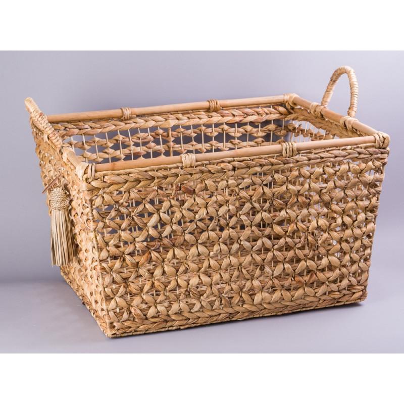 Korb XL aus Wasserhyazinthe – Cozy Living – Hier kaufen!