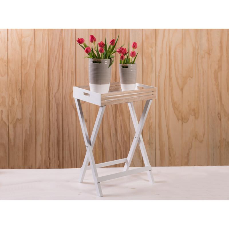 Gut Deko Tablett Tisch Scandinavia Aus Holz In Weiss Und Braun Skandinavisches  Design ...