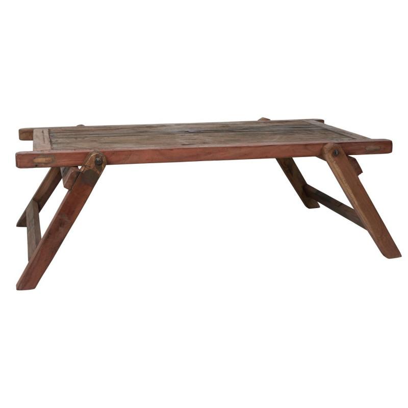 Ib Laursen Holz Tisch niedrig rund UNIKA