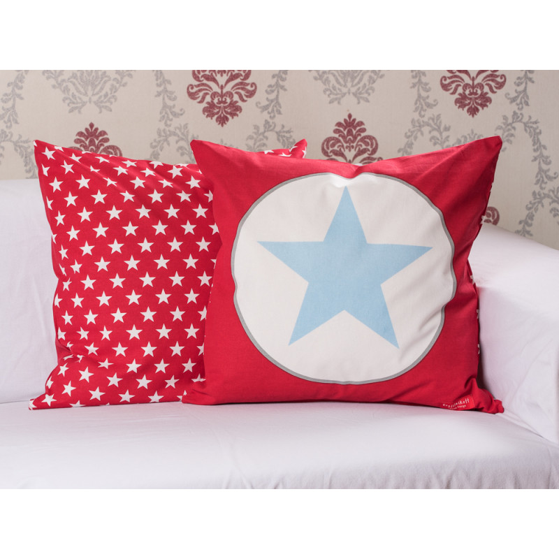 cushion cover new big star red kissenh lle rot stern. Black Bedroom Furniture Sets. Home Design Ideas