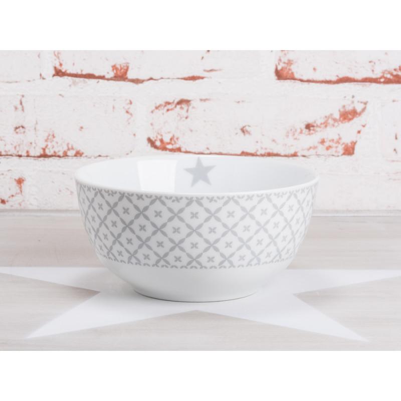 krasilnikoff happy bowl mslischale wei art blumen muster hellgrau porzellan geschirr new diagonal design grau - Geschirr Muster