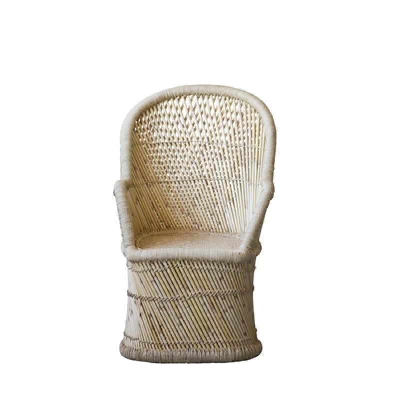 Bambus stuhl terrain mit lehne bloomingville jetzt kaufen for Stuhl mit hoher lehne