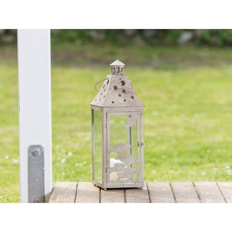 laterne fischschwarm metall 50 cm hier kaufen. Black Bedroom Furniture Sets. Home Design Ideas