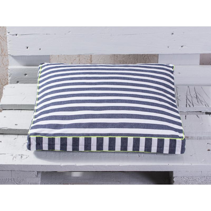 pad concept sitzkissen chetto blau wei maritimer sitzkissen bezug in blau wei gestreift. Black Bedroom Furniture Sets. Home Design Ideas
