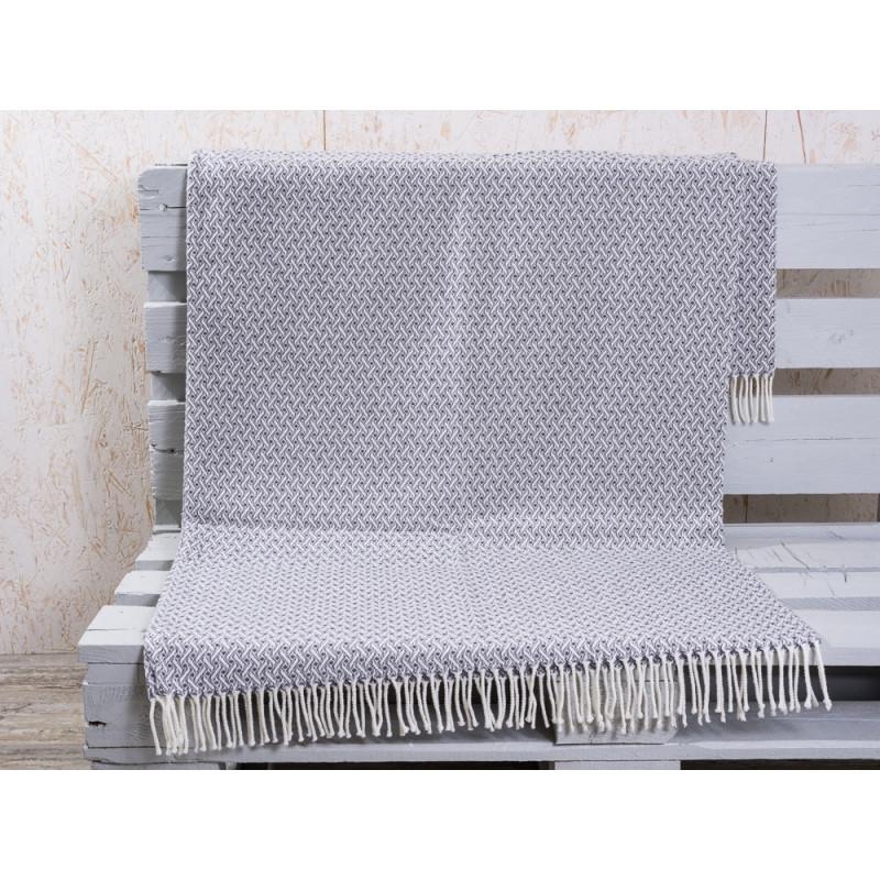 graue wolldecke mit fransen hier g nstig bestellen. Black Bedroom Furniture Sets. Home Design Ideas