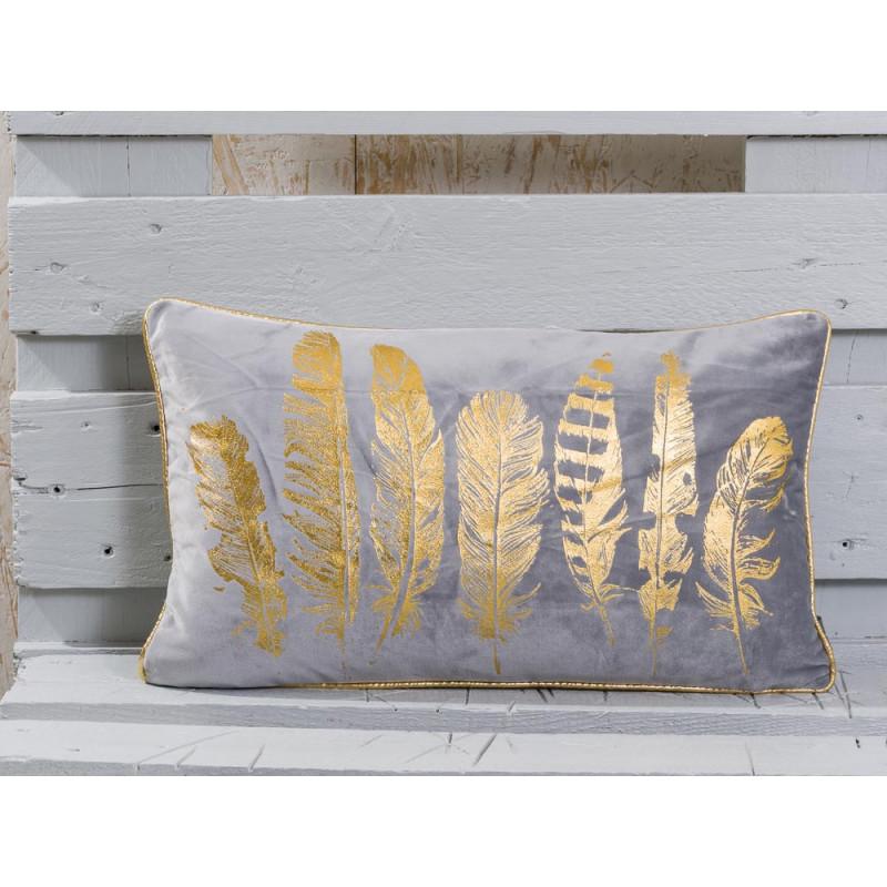 kissenh lle mit goldenem federmuster pad concept jetzt kaufen. Black Bedroom Furniture Sets. Home Design Ideas