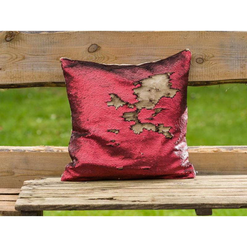 paillettenkissen in rot creme bei uns g nstig kaufen. Black Bedroom Furniture Sets. Home Design Ideas