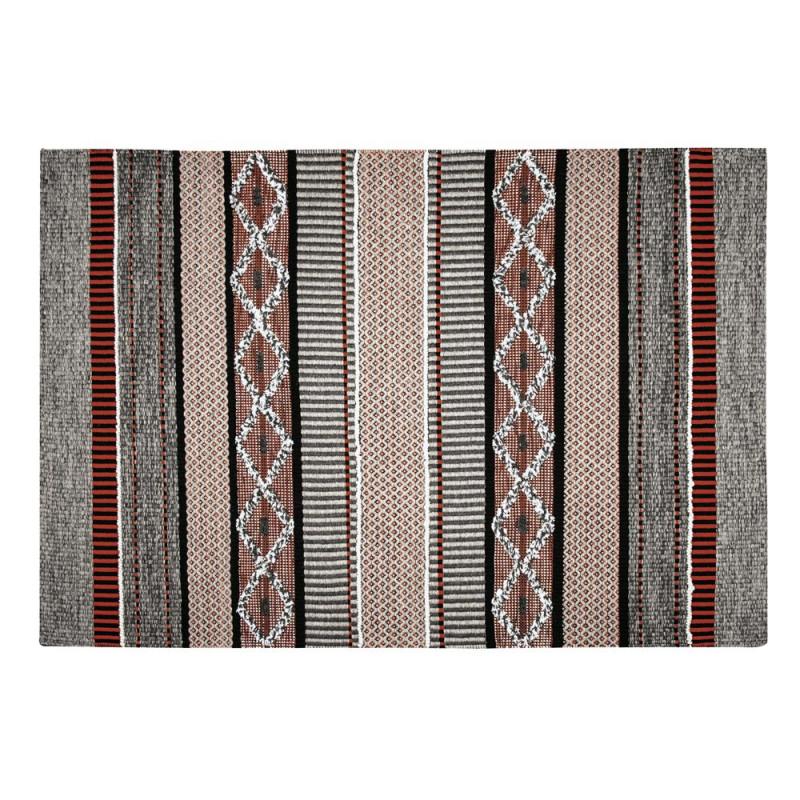 indoor teppich nova rot grau 90x160 cm pad concept. Black Bedroom Furniture Sets. Home Design Ideas