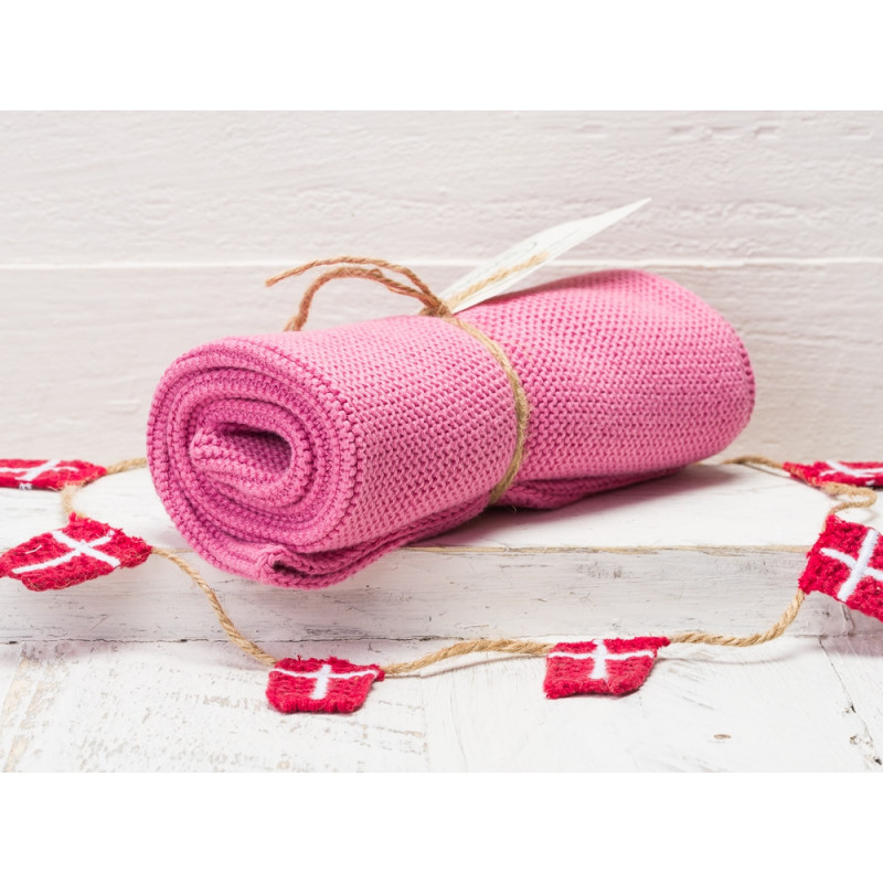 Solwang Küchentuch Altrosa Aus Baumwolle Gestrickt Handtuch Im