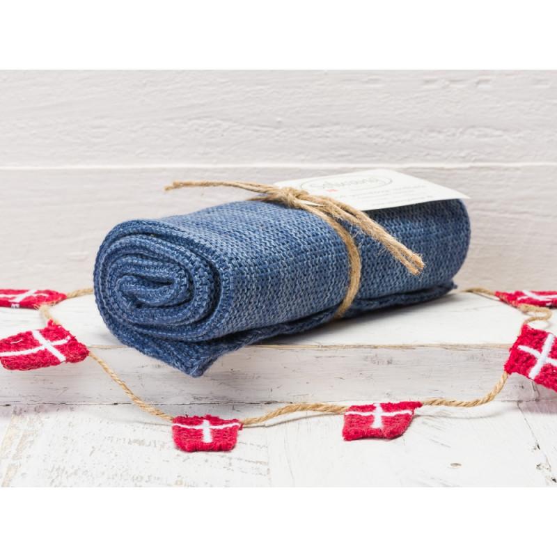 Solwang Küchentuch Blau Meliert Aus Baumwolle Gestrickt Handtuch