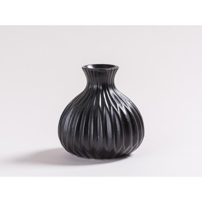 vase lina aus keramik in schwarz jetzt hier bestellen. Black Bedroom Furniture Sets. Home Design Ideas