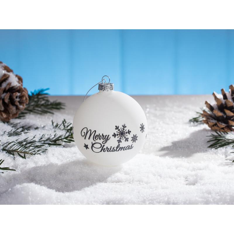 Weihnachtskugeln Weiß Silber.Weihnachtskugel Weiß