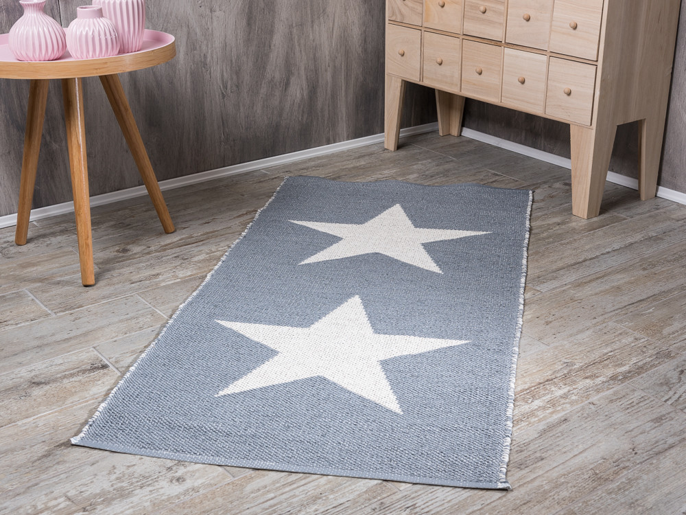 bloomingville outdoor rug cool grey star outdoor teppich. Black Bedroom Furniture Sets. Home Design Ideas