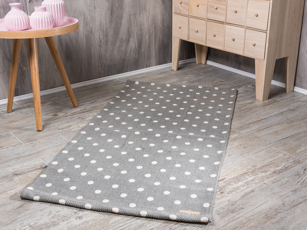 bloomingville rug cool grey with kit dots teppich in. Black Bedroom Furniture Sets. Home Design Ideas