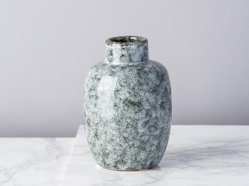 Bloomingville Vase rot Keramik Blumenvase 10 cm hoch 11 cm Durchmesser