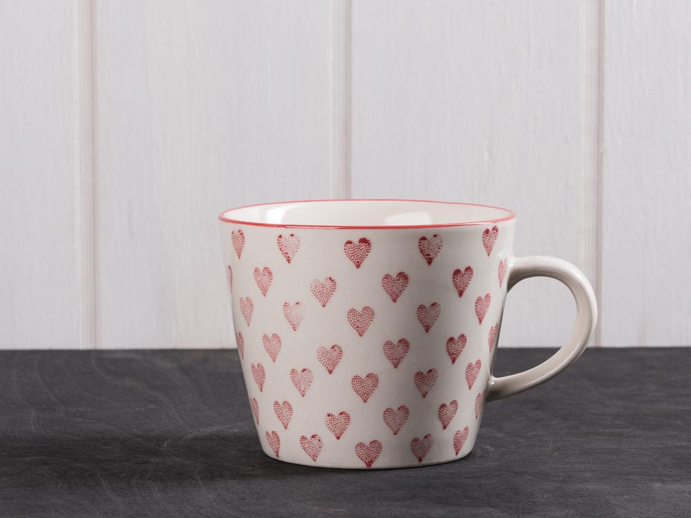ib laursen tasse herz rote herzen auf wei em keramik. Black Bedroom Furniture Sets. Home Design Ideas