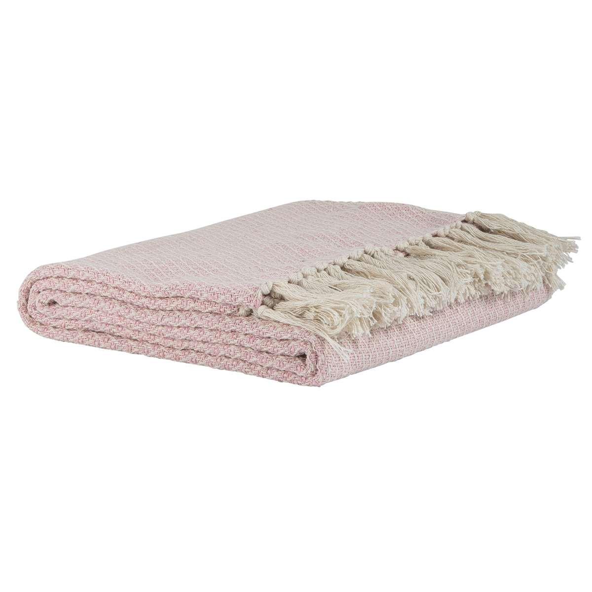 ib laursen plaid creme rosa karo muster wolldecke aus baumwolle creme farbig mit hellrosa. Black Bedroom Furniture Sets. Home Design Ideas