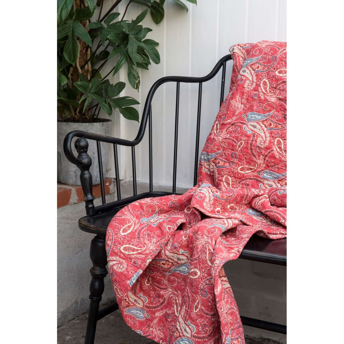 Ib laursen quilt paisleymuster rot tagesdecke bedruckt for Tagesdecke paisley