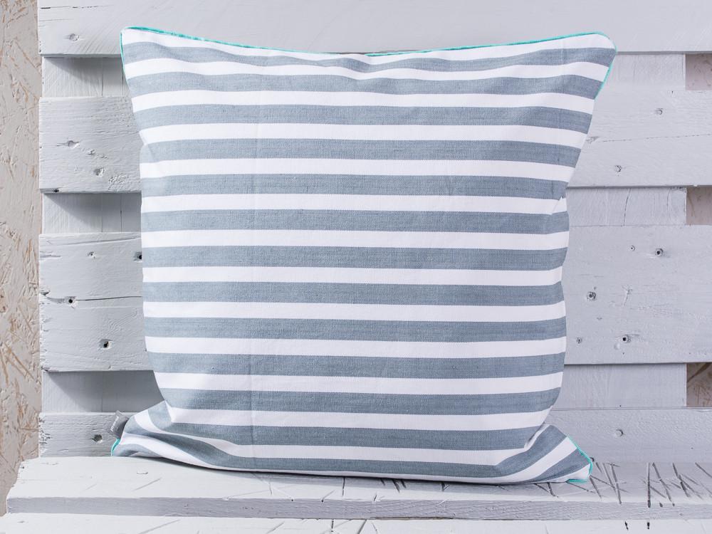 pad concept kissen chetto grau wei gestreifte maritime kissenh lle in grau wei mit einem. Black Bedroom Furniture Sets. Home Design Ideas