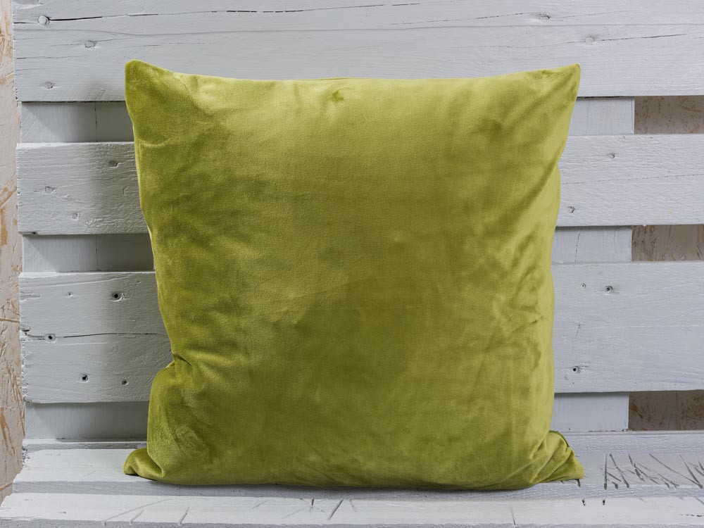 50x50cm PAD Kissenhülle Samt Smooth Emerald Grün