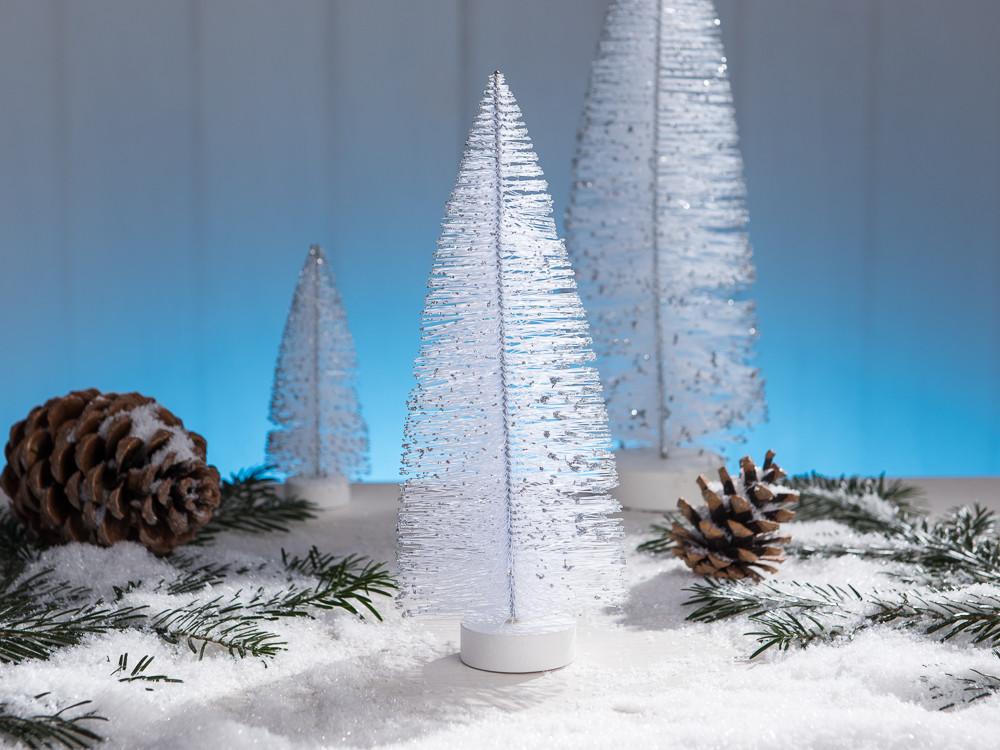 wei er tannenbaum als deko objekt zu weihnachten in der h he von 25 cm. Black Bedroom Furniture Sets. Home Design Ideas