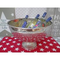 Champagner Schale silber 40 cm