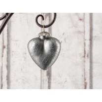 Hänger Herz - Silver - matt silber klein