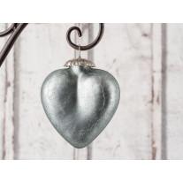 Hänger Herz - Silver - matt silber groß