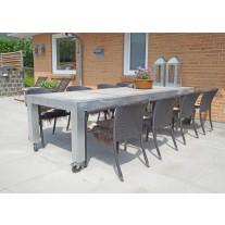 A2 Living - Allwetter Gartentisch 4er Pro 10 verzinkt 298 cm