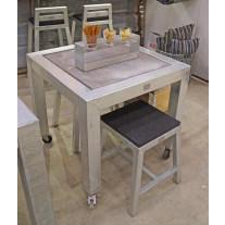 A2 Living - Allwetter Gartentisch 1er Typ 8 verzinkt 77 cm