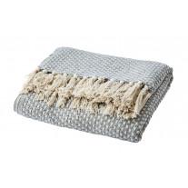 Affari Decke ANNA Hellgrau Recycelt Baumwolle