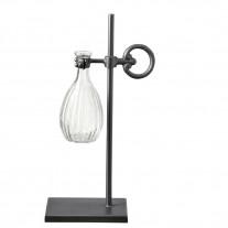 Affari Vase OLIVIA Glas mit Metallständer 10x17 cm