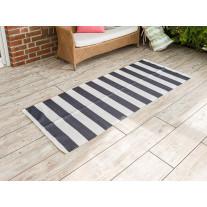 AU Maison Outdoor Teppich Streifen Schwarz Weiß 80x200