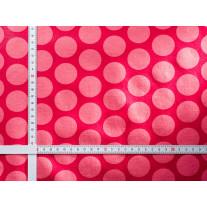 AU Maison Wachstuch Super Dots Raspberry Peachy Pink