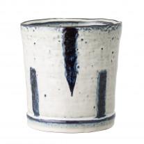 Bloomingville Blumentopf Blau / Weiß 13 cm