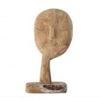 Bloomingville Büste mit Hand aus Holz Geschnitzt